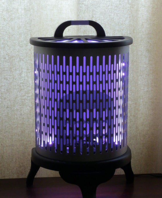 Color changing LED light made from vintage heater