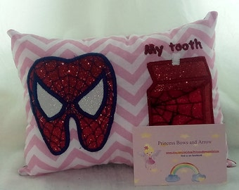 girls tooth fairy pillow, Personalized tooth fairy pillow