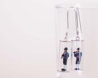 Brass Band-Earrings Silver