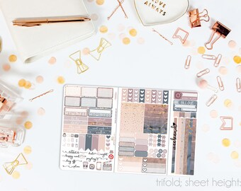 Dusk TN POCKET Weekly Kit // 100+ Matte Planner Stickers // Perfect for your Pocket/Personal Traveler's Notebook // TNP0650