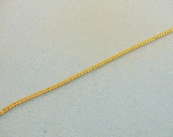 1m gold plated curb chain -  1 yard gold plated chain - 3mm x 2mm curb link chain - gold chain - gold curb chain