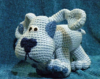 PDF - INSTANT DOWNLOAD - Blue from Blue's Clues - 8 inches amigurumi doll crohet pattern in English language