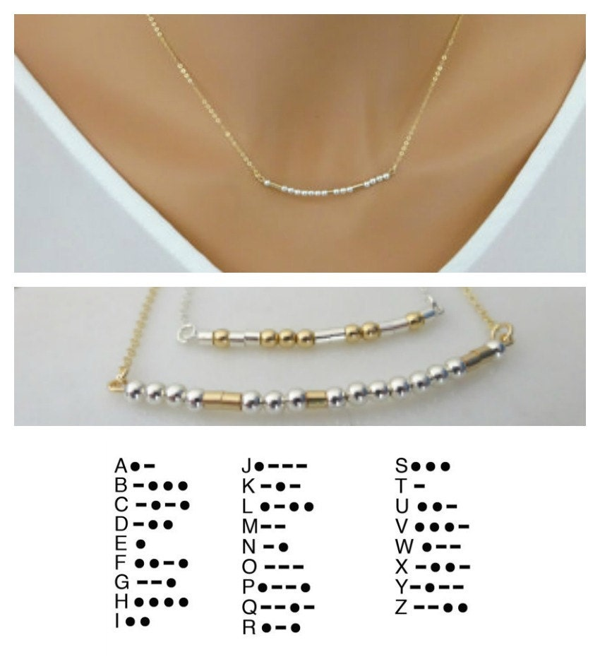 Morse Code Necklace, unique Holiday Gifts, Personalized Name Custom secret message, Bridesmaid handmade gift, Mom necklace, unique gift