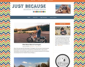 Wordpress Blog Theme, Wordpress Mobile Responsive, Blog Template, Orange, Navy, Blog design, Genesis Child Theme, Wordpress Theme