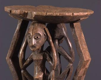 Stool Zimba Congo African art 11527