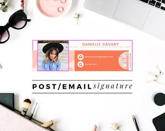 Premade Email Signature | Blog Post Signature | Wordpress Graphics | Blogger Graphics | Blog Graphics | Professional Email Signature Design