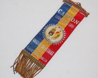 Knights Of Pythias Badge Fraternal Ribbon Lodge No 598 Canton Ohio