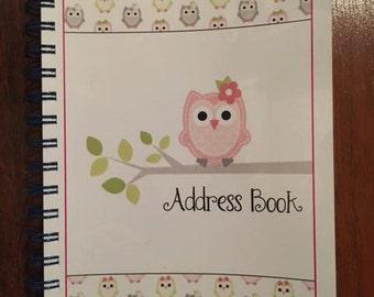 Adorable Owl Address Book - Spiral Bound