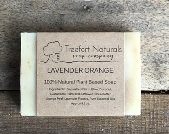 Lavender Orange Soap - Handmade soap, Cold Process, All Natural soap, essential oil, vegan soap
