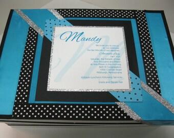 Bar/ Bat Mitzvah Keepsake Box with Invitation