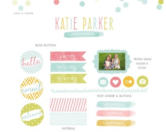 Blog Kit - Branding Kit - web marketing kit for photographers and small business - blog buttons - web buttons