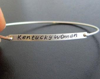 Long Name Bracelet, Name Bangle Bracelet, Hand Stamped Bangle, Hand Stamped Bracelet, Word Bracelet, Thin Bracelet, Thin Bangle Bracelet