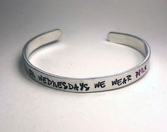 On Wednesdays We Wear Pink Bracelet