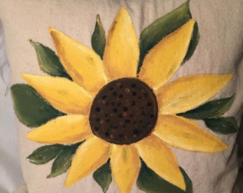 Hand Painted Pillow Cover