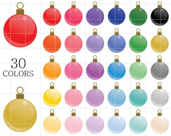 Christmas Ornaments  Clipart, Christmas Clipart, Ornaments Clipart, Glossy Ornaments Clipart, Tinsel Clipart, Colorful Ornaments Clipart