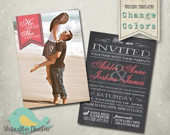 Wedding Announcement Templates Save the Date - Wedding 18