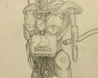 Humanoid robot technology art