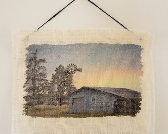 Windmill and Barn Wall Hanging