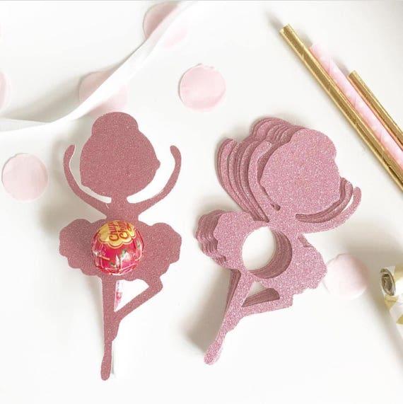 Glitter Ballerina Lollipop Chuppa Chup holders | Party Favor Gifts | Set of 8 | Lollipop Tag | Lollipop Gift | Ballerina Favors