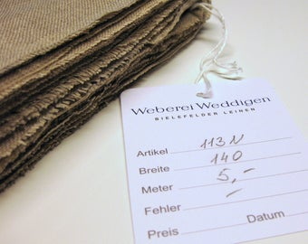 25 cm embroidery linen natural/unbleached