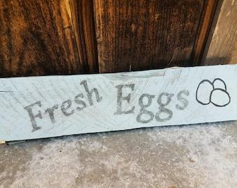 Fresh Eggs Rustic Wood Sign | Farmhouse decor | Farm decor | Chicken decor | Farm Fresh Eggs | Rustic Farm sign | Wooden Farm sign | Eggs
