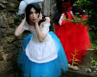The perfect ALICE tutu skirt Romance knee length Adult costume halloween cosplay dress up -- You Choose Size -- Sisters of the Moon