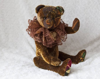Bekkiebears OOAK artist bear Louis antique mohair