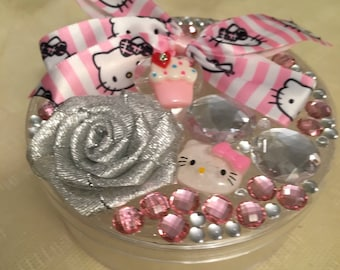 Hello kitty keepsake/pink jewelry/trinket box