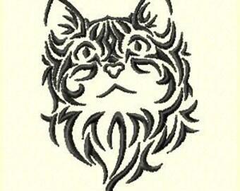 Cat Machine Embroidery Design