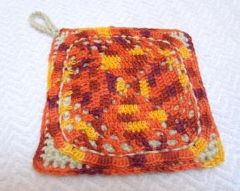 Crocheted Potholder or trivet