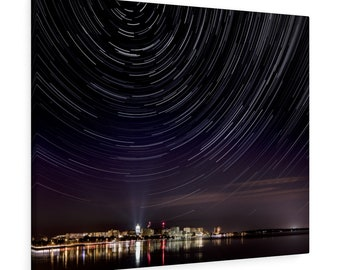 Madison Star Trails Canvas Gallery Wraps