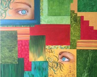 Summer - original acrylic eyes