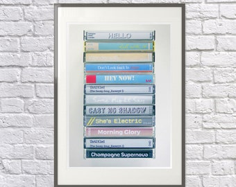 Whats the Story Morning Glory - Art Print - Oasis Album- Oasis Gift - Oasis Fan - Oasis Print - Retro Cassette Print - Oasis Poster