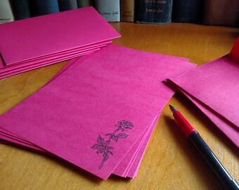 Stationery Letter Set Red Rose 24 pages & choose your number of Envelopes