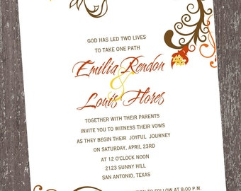 Floral Invitations For Any Occasion