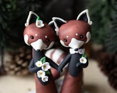Red Panda Wedding Cake Topper by Bonjour Poupette