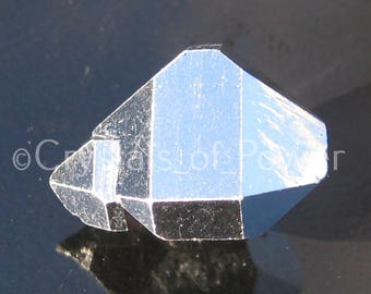 One Pure Silver Plated Herkimer Diamond! From The Herkimer Mine! Metaphysical Configurations! Natural Herkimer Diamond With Silver Plating!