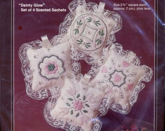 Kit for 4 Beaded and Embroidered Sachets UNOPENED