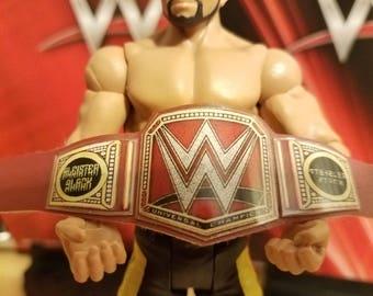 Aleister Black Conceptual WWE Universal Heavyweight Championship belt for wrestling figures