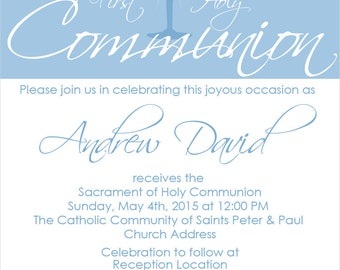 First Holy Communion Invite