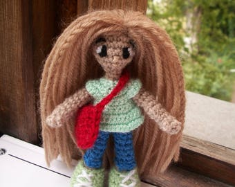 Crochet mini amigurumi doll/вязаная мини кукла амигуруми