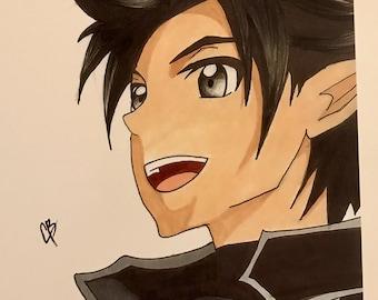 Kirito Anime copic art drawing