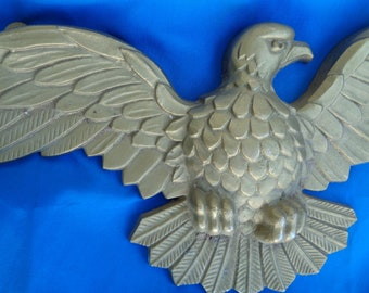 Vintage Beautiful Metal Large Eagle with outstretched wings Americana - Patriotic - Mid Century - Retro Home Decor