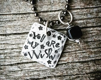 You are my wish necklace; adoption ; daughter