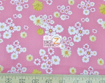 """100% Cotton Fabric By RJR Fabrics - Home Sweet Home Pink Floral - 45"""" Wide By The Yard (FH-2191) Dan Morris"""