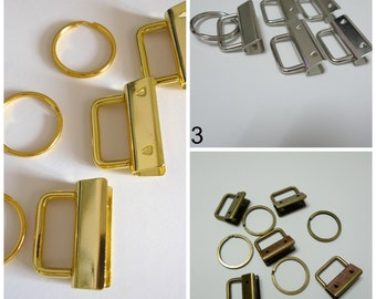 """FREE SHIPPING 50 Sets 1"""" 25mm Gold Color Key Fob Hardware Wholesale"""