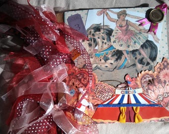 Handmade Circus Paper Bag Album