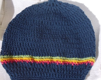 Tam for Dreads-Navy- Please see Head Size chart in Item Details