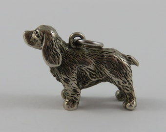 Dog Sterling Silver Vintage Charm For Bracelet