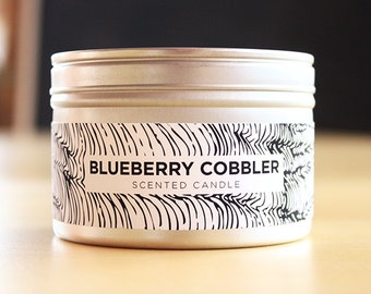 Blueberry Cobbler 8oz Soy Candle with Wood Wick